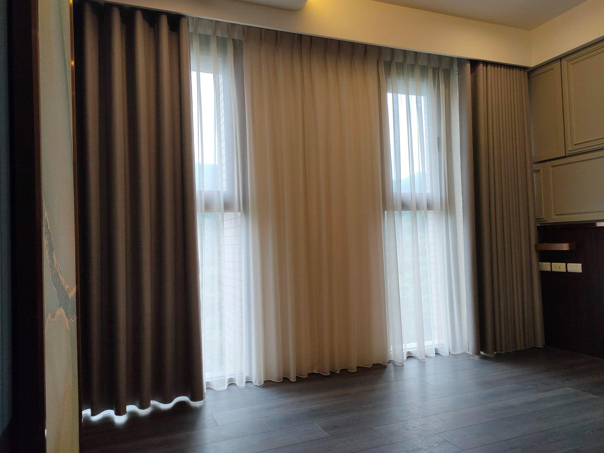 簡約純色遮光窗簾/加厚三層
